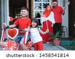 children having fun in... | Shutterstock . vector #1458541814