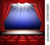 theater stage. festive... | Shutterstock .eps vector #1458554087