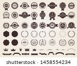 vintage badges. emblem premium... | Shutterstock .eps vector #1458554234