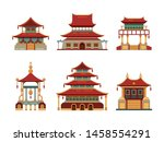 traditional buildings. japan... | Shutterstock .eps vector #1458554291