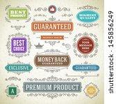 vector vintage premium quality... | Shutterstock .eps vector #145856249