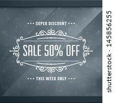 window advertising decals... | Shutterstock .eps vector #145856255