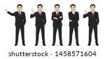business man set different... | Shutterstock .eps vector #1458571604
