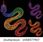 vector illustration of brightly ... | Shutterstock .eps vector #1458577907