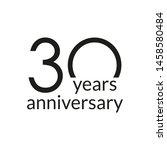 30 years anniversary...   Shutterstock .eps vector #1458580484