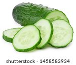 Cucumber And Slices Isolated On ...