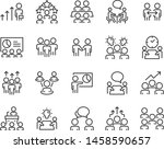 set of meeting icons  such as... | Shutterstock .eps vector #1458590657