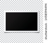 photo frame mockup transparent... | Shutterstock .eps vector #1458594494