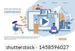 advertising banner online... | Shutterstock .eps vector #1458596027