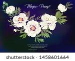 white peony. template for... | Shutterstock .eps vector #1458601664