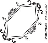 vintage frame  with drawing... | Shutterstock .eps vector #1458622364