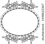 vintage frame  with drawing... | Shutterstock .eps vector #1458622367