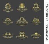 luxury logos and monograms... | Shutterstock .eps vector #1458630767