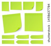 set of different green sticky... | Shutterstock .eps vector #1458637784