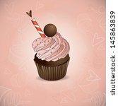 cupcake hearts | Shutterstock .eps vector #145863839