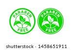 paraben free sign or stamp... | Shutterstock .eps vector #1458651911