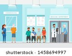 patient sit and wait in front... | Shutterstock .eps vector #1458694997