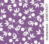 simple vintage pattern. purple... | Shutterstock .eps vector #1458719177