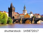 Famous Charles Bridge And Tower ...