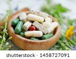 natural suplements pills ... | Shutterstock . vector #1458727091