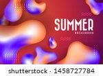 abstract liquid banner... | Shutterstock .eps vector #1458727784