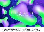 abstract liquid banner...   Shutterstock .eps vector #1458727787