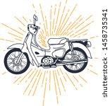 outline or line art vintage... | Shutterstock .eps vector #1458735341