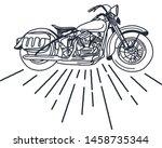 outline or line art vintage... | Shutterstock .eps vector #1458735344