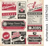 retro newspaper ads design