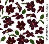 elegant floral seamless pattern.... | Shutterstock .eps vector #1458742511
