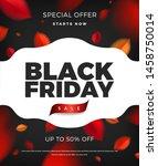 black friday sale poster... | Shutterstock .eps vector #1458750014