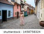 Cobblestone Street And Colorful ...