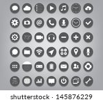 set of buttons icons for  ui ...