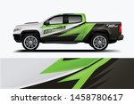 truck wrap design vector.... | Shutterstock .eps vector #1458780617