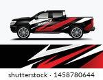 truck wrap design vector.... | Shutterstock .eps vector #1458780644