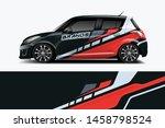 car wrap graphic racing... | Shutterstock .eps vector #1458798524