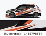 car wrap graphic racing... | Shutterstock .eps vector #1458798554
