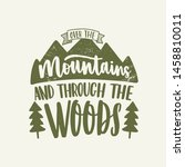 over the mountains and through... | Shutterstock .eps vector #1458810011