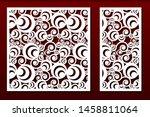 laser cut panels. stencil for... | Shutterstock .eps vector #1458811064