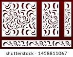 laser cut panels. stencil for... | Shutterstock .eps vector #1458811067