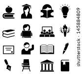 college and higher education...   Shutterstock .eps vector #145884809