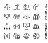 business people line icons set... | Shutterstock .eps vector #1458852467