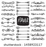 flower ornament dividers.... | Shutterstock .eps vector #1458923117