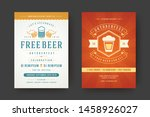 oktoberfest flyers or posters... | Shutterstock .eps vector #1458926027