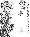 vintage floral template. raster ... | Shutterstock . vector #145892894