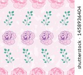 roses seamless pattern print...   Shutterstock . vector #1458936404