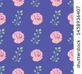 roses seamless pattern print...   Shutterstock . vector #1458936407
