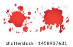 grunge red splashes.red... | Shutterstock .eps vector #1458937631