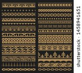 borders set. baroque and...   Shutterstock .eps vector #1458941651