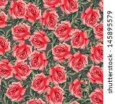 ornamental summer floral... | Shutterstock .eps vector #145895579